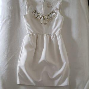 Kate Spade embellished cupcake dress cream 6